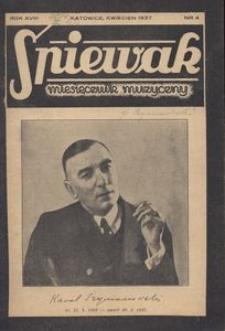 Śpiewak, 1937, R. 18, nr 4