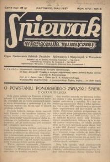 Śpiewak, 1937, R. 18, nr 5