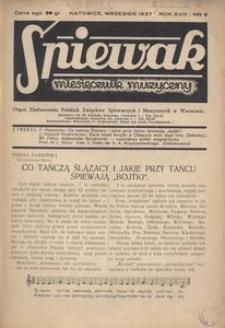 Śpiewak, 1937, R. 18, nr 9