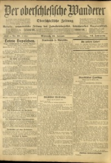 Der Oberschlesische Wanderer, 1911, Jg. 84, Nr. 20