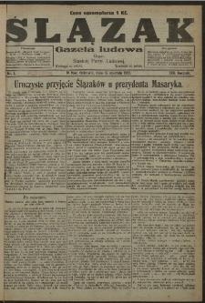 Ślązak, 1921, Nry 1-9, 12, 14-37