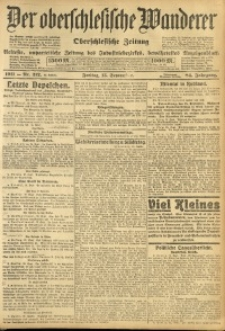 Der Oberschlesische Wanderer, 1911, Jg. 84, Nr. 212
