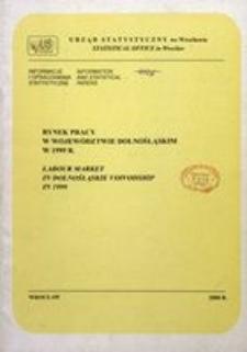 Rynek pracy w województwie dolnośląskim w 1999 r.