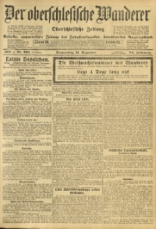 Der Oberschlesische Wanderer, 1911, Jg. 84, Nr. 292