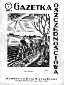 Gazetka Oszczędnościowa, 1938, R. 8, nr 3
