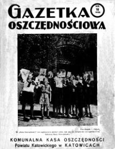 Gazetka Oszczędnościowa, 1938, R. 8, nr 10