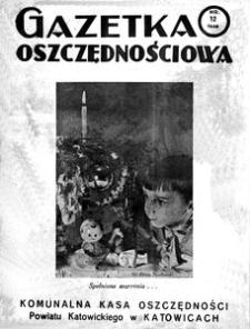 Gazetka Oszczędnościowa, 1938, R. 8, nr 12