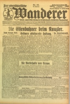 Der Oberschlesische Wanderer, 1922, Jg. 94, Nr. 46