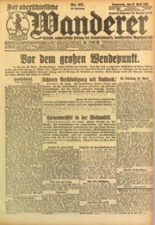 Der Oberschlesische Wanderer, 1922, Jg. 94, Nr. 97