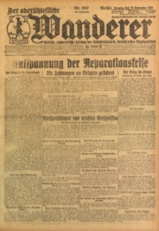 Der Oberschlesische Wanderer, 1922, Jg. 94, Nr. 217