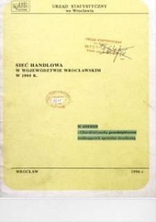 Sieć handlowa w województwie wrocławskim w 1995 r.