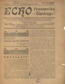 Echo Pracownika Śląskiego, 1925, R. 6, nr 7