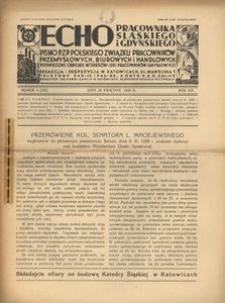 Echo Pracownika Śląskiego i Gdyńskiego, 1938, R. 19, nr 4