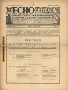 Echo Pracownika Śląskiego i Gdyńskiego, 1938, R. 19, nr 5