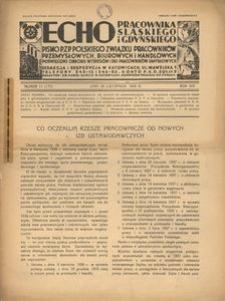 Echo Pracownika Śląskiego i Gdyńskiego, 1938, R. 19, nr 11