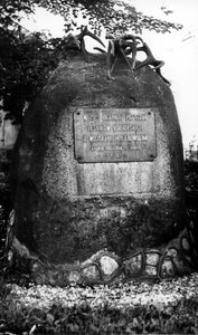 Kobiór - pomnik, 25-lecie potyczki leśników kobiórskich z wojskami hitlerowskimi