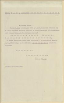 Zaproszenie z 03.11.1914 r. na posiedzenie Sekcji Śląskiej NKN w Boguminie w dniu 06.11.1914