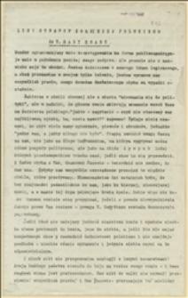 List otwarty żołnierza polskiego do T. Rady Stanu