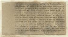 Poświęcenie cmentarza poległych legionistów w Łowczówku