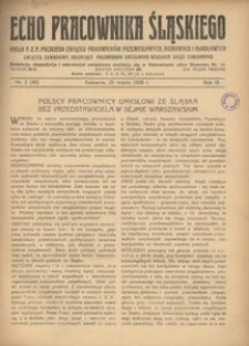 Echo Pracownika Śląskiego, 1928, R. 9, nr 2