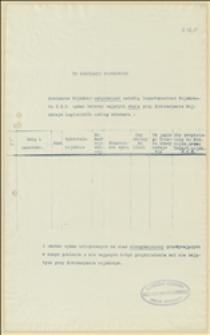 Formularz legionistów pracujących w Komisariacie Wojskowym