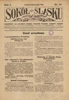 Sokół na Śląsku, 1926, R. 5, Nr. 5/6