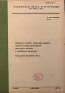 Użytkowanie gruntów, powierzchnia zasiewów, pogłowie zwierząt gospodarskich oraz maszyny rolnicze w województwie wrocławskim według spisu rolniczego 1979 r.