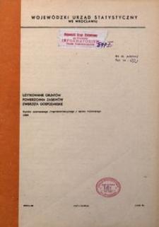 Użytkowanie gruntów, powierzchnia zasiewów, zwierzęta gospodarskie. Wyniki czerwcowego (reprezentacyjnego) spisu rolnego 1989