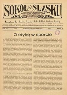 Sokół na Śląsku, 1936, R. 15, nr 8