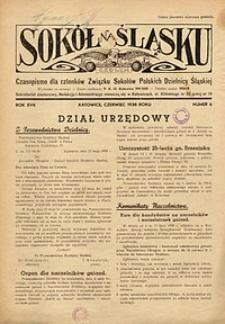 Sokół na Śląsku, 1938, R. 17, nr 6