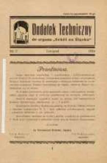"Dodatek Techniczny do organu ""Sokół na Śląsku"", 1934, nr 2"