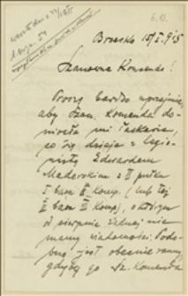 List Jana Maderskiego z Brzeska w sprawie losów rannego legionisty Edwarda Maderskiego - Brzesko, 15.01.1915