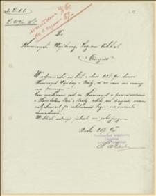 Pismo Komisariatu Wojskowego Legionów powiatu bielskiego, będące odpowiedzią na pismo Komisarza Wojskowego Legionów Polskich w Cieszyne z dnia 23.01.1915