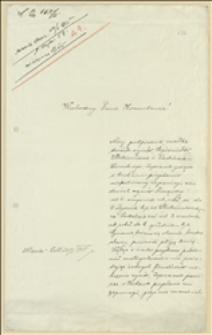 Prośba Józefy Dworskiej z Maria-Zell o wsparcie, umotywowana służbą dwóch synów w Legionach - Styria, 20.01.1915