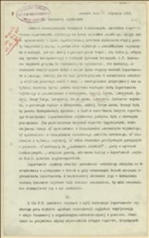 Pismo okólne Departamentu Wojskowego NKN dotyczące kontaktów z komisarzami wojskowymi po przeniesieniu siedziby do Sławkowa - Sławków, 28.01.1915