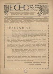 Echo Pracownika Śląskiego, 1934, R. 15, nr 7