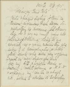 List Marii Lewińskiej w sprawie zapomogi po mężu służącym w Legionach Polskich - 10.03.1915