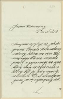 List J. Niedojadłowej, nauczycielki z Michałkowic w sprawie zasiłku dla Rozalii Urbanikowej, której syn służy w Legionach Polskich - 13.03.1915