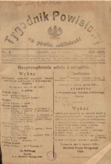Tygodnik Powiatowy na Powiat Lubliniecki, 1928, nr 2