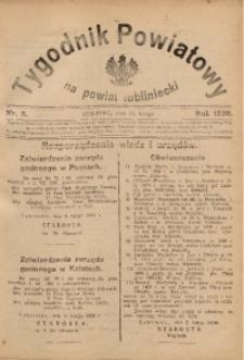 Tygodnik Powiatowy na Powiat Lubliniecki, 1928, nr 6