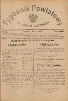 Tygodnik Powiatowy na Powiat Lubliniecki, 1928, nr 11