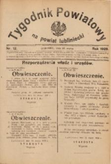 Tygodnik Powiatowy na Powiat Lubliniecki, 1928, nr 12