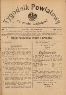 Tygodnik Powiatowy na Powiat Lubliniecki, 1928, nr 17