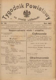 Tygodnik Powiatowy na Powiat Lubliniecki, 1928, nr 20