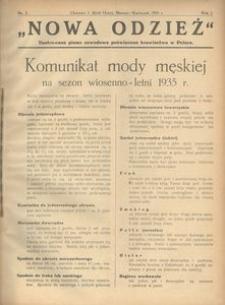 Nowa Odzież, 1935, R. 2, nr 2