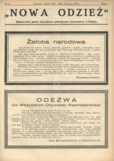 Nowa Odzież, 1935, R. 2, nr 3