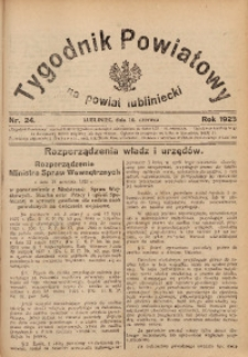 Tygodnik Powiatowy na Powiat Lubliniecki, 1928, nr 24