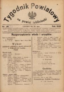 Tygodnik Powiatowy na Powiat Lubliniecki, 1928, nr 30