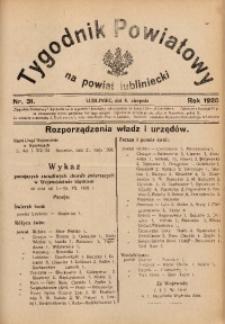 Tygodnik Powiatowy na Powiat Lubliniecki, 1928, nr 31