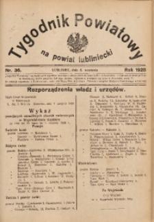 Tygodnik Powiatowy na Powiat Lubliniecki, 1928, nr 36